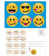 6 Summer Camp Stationery Postcards For Kids 3 Each Design Emoji Walmart Com Walmart Com