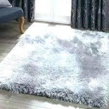 small white fluffy rug gray