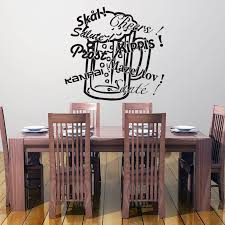 Cheers Prost Salute Sante Beer Glass Wall Decal Style And Apply