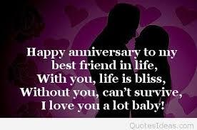 best friend happy anniversary message