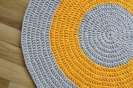 crochet rug for nursery room yellow rug