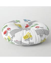 Spectacular Savings On Trucks Childrens Room Decor Floor Pillow By Bgimages Round 30 X 30