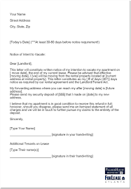 writing your landlord a letter of notice