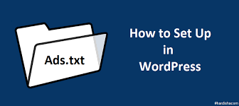 ads txt files manage in wordpress