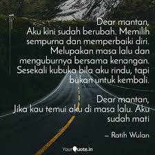dear mantan aku kini sud quotes writings by ratih wulan