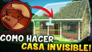 maison invisible dans minecraft