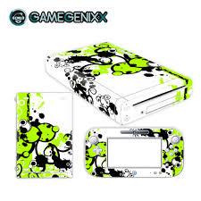 Gamegenixx Skin Sticker Vinyl Decal Wrap Cover For Nintendo Wiiu Green Graffiti Stickers Aliexpress