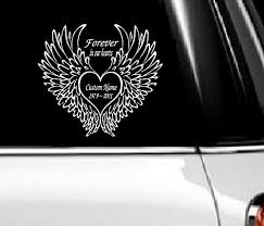 Memory Of Decal Forever In Our Hearts Choose From Custom Name Date Auto Decal 9 X 10 Forever Custom Name 1 Walmart Com Walmart Com