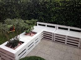 wooden pallets in the garden