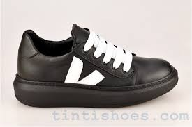 Дамски обувки Iva black white - Iva white blue