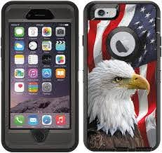 Amazon Com Teleskins Protective Designer Vinyl Skin Decals Stickers Compatible With Otterbox Defender Iphone 6 Plus Iphone 6s Plus Case Bald Eagle American Flag Design Patterns Only Skins And Not Case
