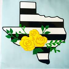 Texas Decal Yellow Rose Of Texas Flower Swag Texas Decal By Southhousedecals On Etsy Painted Signs Rose Painting Yellow Roses