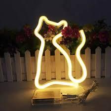Led Neon Lights Cat Shaped Hanging Neon Lamp Wall Decor Sign Neon Lights Light Up For Kids Room Bar Christmas As Kids Gift Light Neon Bulbs Tubes Aliexpress