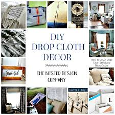 diy drop cloth project ideas the