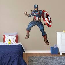 Captain America Heroic Face Wall Vinyl Sticker
