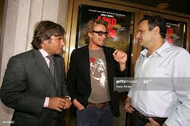 Actor Simon Baker and producers Peter Grunwald and Bernie Goldmann... News  Photo - Getty Images