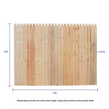 Severe Weather 6 Ft H X 8 Ft W Spruce Stockade Fence Panel In The Wood Fence Panels Department At Lowes Com