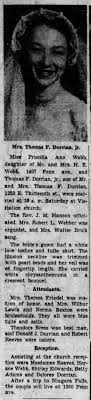 23 Oct 1952 Priscilla Webb marries; Marlene Lewis bridesmaid -  Newspapers.com