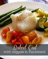 Baked Cod with Veggies in Parchment ...