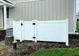 Vinyl Fence Trash Can Enclosure Air Conditioning Enclosure