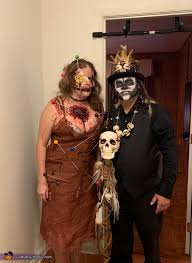 voodoo doll and witch doctor costume