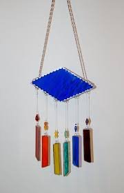 stained glass wind chimes with rainbow