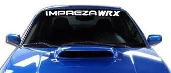 Subaru Impreza Wrx Windshield Banner Decal Sticker Custom Sticker Shop