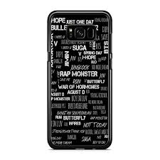 bts quotes collage for samsung galaxy s plus case co