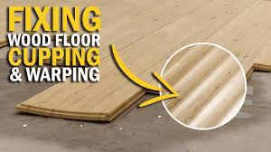 wood floor cupping causes fixing