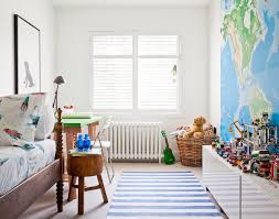 Kids Room With World Map Mural Transitional Boy S Room Jennifer Worts Design