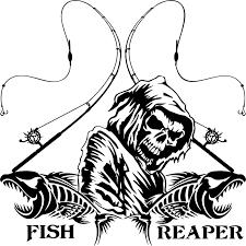 Fishing Fish Grim Reaper Pole Skull Car Truck Window Vinyl Decal Sticker Ebay Vinyl Decal Stickers Fish Vinyl Decals