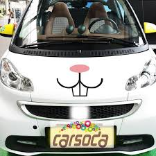 Funny Bunny Rabbit Teeth Decal Vinyl Sticker For Vw Beetles Mini Coope Carsoda