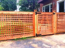 Lions Fence Award Winning Local Co Lattice Fence Custom Wood Fence Design Lattice Fence Gate Custom Wood Gate Des Fence Design Lattice Fence Wood Fence Design