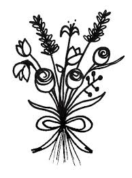 easy flower bouquet drawing step by