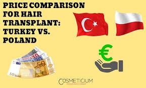 hair transplantation turkey vs poland