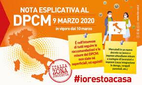NOTA ESPLICATIVA AL DPCM9 MARZO 2020 – Fim Cisl – Federazione ...