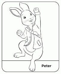 free rabbit pictures to colour in