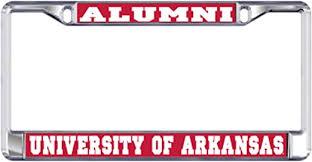 Desert Cactus University Of Arkansas Alumni Metal License Plate Frame For Front Back Of Car Officially Licensed Ua Razorbacks Alumni Craftique Frames