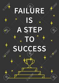 failure is a step to success inspirational motivational quote