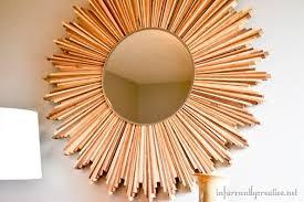 diy stained wood shim starburst mirror