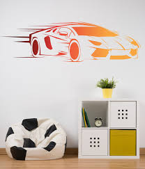 Luxury Car Wall Decal Sport Vehicle Vinyl Sticker Racing Etsy