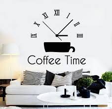 Vinyl Wall Decal Drink Coffee House Time Clock Office Break Room Stick Wallstickers4you