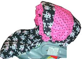 pink skull infant car seat flashy