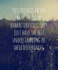 best friends sometimes have the same characteristics but still