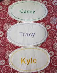 iron on patch large name embroidered