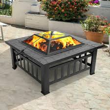 chiminea outdoor wood burning fire pit