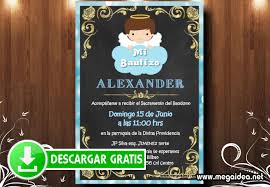 Invitacion Bautizo Nino Editable Mega Idea