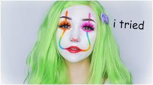 rainbow clown makeup simple easy