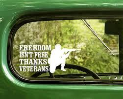 2 Thanks Veterans Freedom Isn T Free Decals Sticker