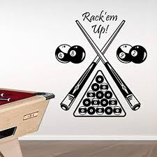 Amazon Com Pool Table Vinyl Wall Decals Removable Vinyl Wall Art Decals For Kids Rooms Bedroom Living Room Kitchen Playroom Gym American Billiards Sports Wall Decal Wall Decal Stickers For